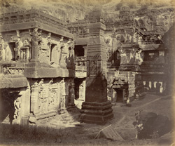Ellora Caves. Temple of Kylas (or paradise)